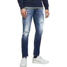 Jack&Jones Pánske džínsy JJIGLENN JJFOX Slim Fit 12185918 Blue Denim