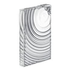 Guzzini plochá lahev FLAT PACK WATER BOTTLE RIPPLES průhledná/bílá