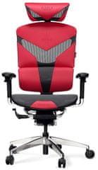 Diablo Chairs V-Dynamic, černá/červená (5902560335439)