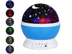 LED mini projektor - hviezdna obloha - modrá