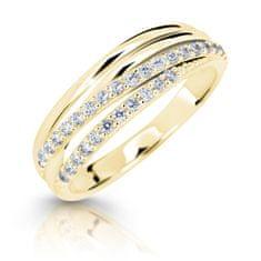 Cutie Jewellery Błyszczący pierścionek z żółtego złota Z6716-3352-10-X-1 białe złoto 585/1000