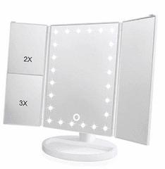 iQ-Tech iMirror 3D Magnify, kosmetické Make-Up zrcátko třípanelové LED bílá