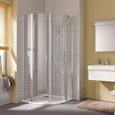 Kermi Cada XS sprchový kout čtvrtkruh kyvné dveře s pevnými poli transparent chrom 80x80cm - CCP5508020VPK