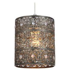 Sessak Sessak Ozdobné závesné svietidlo starožitného designu Maya - pr. 170 x 200 mm, 60 W, mosadz, patina SE Mayko