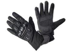 Cappa Racing Rukavice moto BAKU kůže/textil dlouhé černé