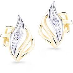 Cutie Diamonds Luxusné bicolor náušnice zo zlata s briliantmi DZ8024-30-00-X-1
