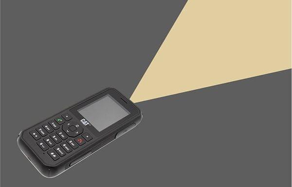 CAT B40 odolný tlačidlový telefón vodotesný prachuvzdorný odolný proti nárazu krytia IP69 dlhá výdrž batérie Dual SIM pamäťová karta výkonné svietidlo LTE Bluetooth 5.0 robustný konštrukcia vojenský štandard Mil-STD-810H antibakteriálna povrchová úprava veľkokapacitná batéria odolný voči pádom a nárazom 2 Mpx fotoaparát video zoom