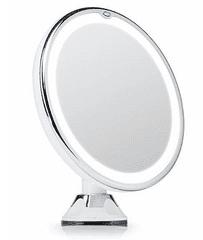 iQ-Tech iMirror Magnify 10, kosmetické Make-Up zrcátko zvětšující 10x LED bílá