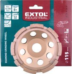Extol Industrial kotouč diamantový brusný jednořadý, O 115x22,2mm