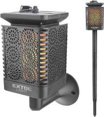 Extol Light pochodeň LED s plamenem, solární nabíjení, 12x LED