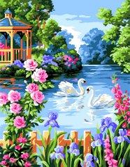 Kouzelný Art Malování podle čísel Labutí tanec