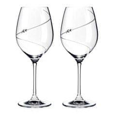 Diamante Silhouette poháre veľké na červené víno v darčekovom balení