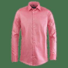 STEVULA Červená pánska košeľa so štruktúrou, Slim fit