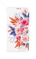 TopQ Púzdro Samsung A12 Flipové Kytica 57055