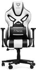 Diablo Chairs X-Fighter, černá/bílá (5902560333268)