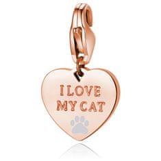 S'Agapõ Bronzový prívesok I love my cat SHA341