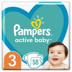 Pampers Active Baby Veľkosť 3 58 ks, 6-10kg