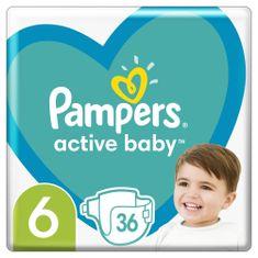 Pampers Active Baby Veľkosť 6 36 ks, 13-18 kg