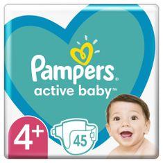 Pampers Active Baby 4-es méret 45 db, 10-15kg