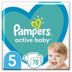 Pampers Active Baby 5 Junior pelenka (11-16 kg) 78 db
