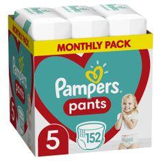 Pampers pelene gaćice Pants 5 (12-17 kg) 152 komada - Mjesečno pakiranje