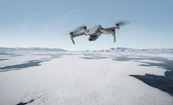 DJI Mavic Air 2 drón, 4K UHD nagy felbontás, 60 fps 48 Mpx, nagy hatótávolság, háromtengelyes stabilizálás