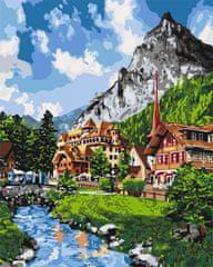 Kouzelný Art Malování podle čísel Horská vesnička