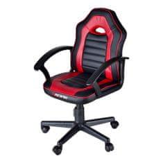 Bergner Racing igralni stol, črno-rdeč
