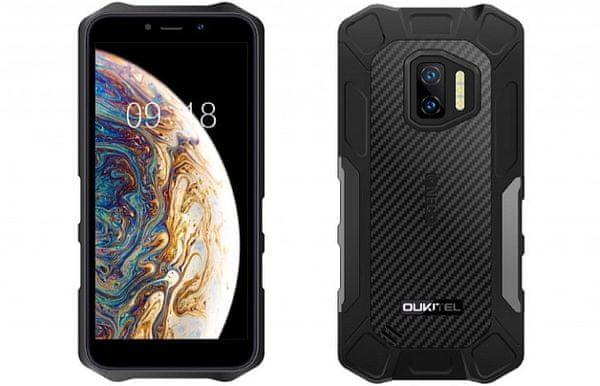 Oukitel WP12 odolný telefon IP69K IP68 vojenský standard odolnosti MIL-STD-810G vysoká kapacita baterie dlouhá výdrž duální fotoaparát NFC čtečka obličeje Bluetooth 5.0 reverzní dobíjení Gorilla Glass 3 bezrámečkový displej HD+ HDR 5Mpx přední  kamera ovládání v rukavicích
