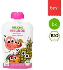Freche Freunde BIO Ovocná kapsička Jablko, melón, mango a ananás 6x 100g
