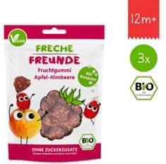 Freche Freunde BIO Ovocné želé - Jablko, malina, ryžové guľky 3x 30g