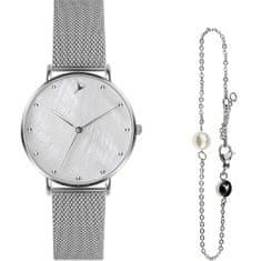 Emily Westwood Seashell Mesh & Silver Mini Pearl Bracelet EWS042