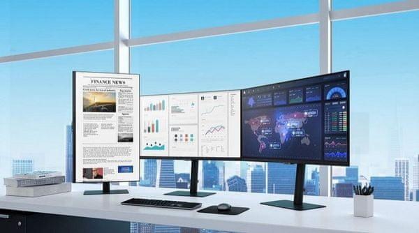 monitor Samsung T85F (LF27T850QWUXEN) IPS 24 palců gaming office displej