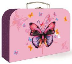 Karton P+P Lamino Metulj kovček, 34 cm, roza