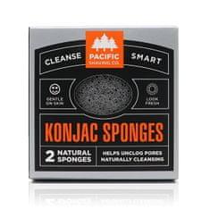 Pacific Shaving Přírodní konjaková houba (Konjac Sponges) 2 ks