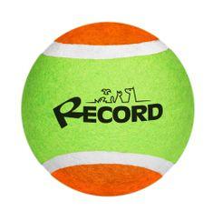 RECORD Fun teniška žogica za pse, guma/filc, 10,2 cm, zeleno-oranžna