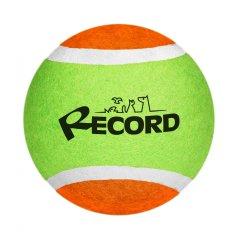 RECORD Fun teniška žogica za pse, guma/filc, 12,7 cm, zeleno-oranžma