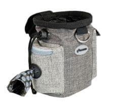 RECORD torbica za priboljške, s pasom, 2 žepa, 3 v 1, siva