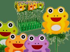 Out of The blue Zápich do kvetináča farebná žaba - 4 kusy v balení