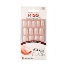 KISS Akrylové nehty - francouzká manikúra pro přirozený vzhled Salon Acrylic French Nude 64268 28 ks