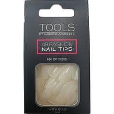 Gabriella Salvete Nehtové tipy 48 ks a Lepidlo na nehty 2 x 2 g Nail Tips With Glue