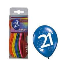 funny fashion Balónky barevné číslo 21 - 12ks
