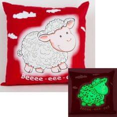 Dreams Svítící polštářek červený Ovečka