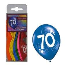 funny fashion Balónky barevné číslo 70 - 12ks