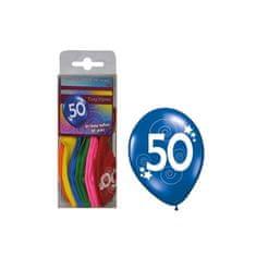 funny fashion Balónky barevné číslo 50 - 12ks