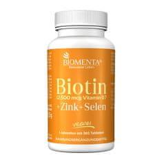 Biomenta Biotin + Cink + Selen - 365 tablet za 365dni