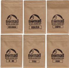 ZrnkovéKávy.sk 6-dielny balíček zrnkových káv