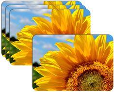 RoomDecor.eu Prostírání-290 Slunečnice, 4 Ks