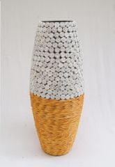 BIRIDA Dekorativní váza ratan malá úzká BR09S - 40 cm