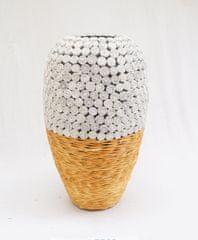 BIRIDA Dekorativní váza ratan střední BPR02M - 45 cm